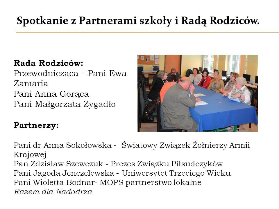Spotkanie z Partnerami szkoły i Radą Rodziców.