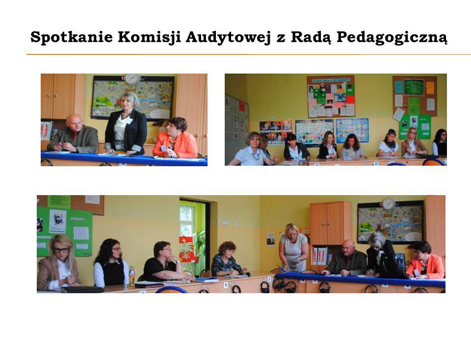 Spotkanie Komisji Audytowej z Radą Pedagogiczną