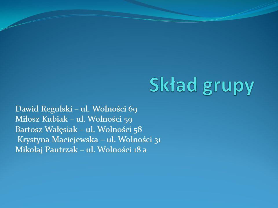 Skład grupy Dawid Regulski – ul. Wolności 69