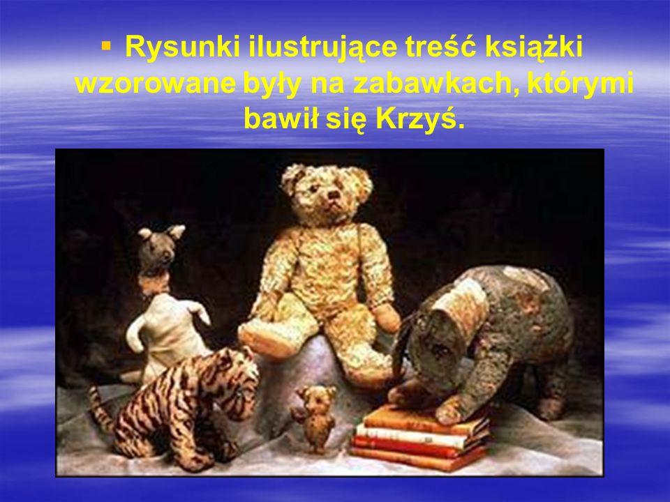 Rysunki ilustrujące treść książki wzorowane były na zabawkach, którymi bawił się Krzyś.