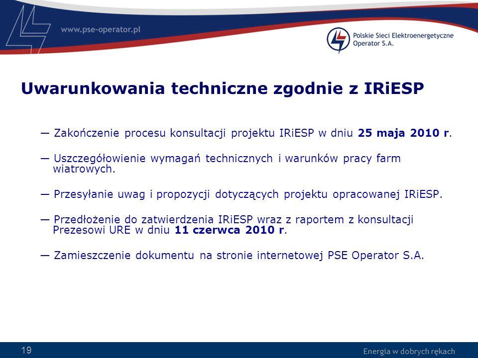 Uwarunkowania techniczne zgodnie z IRiESP