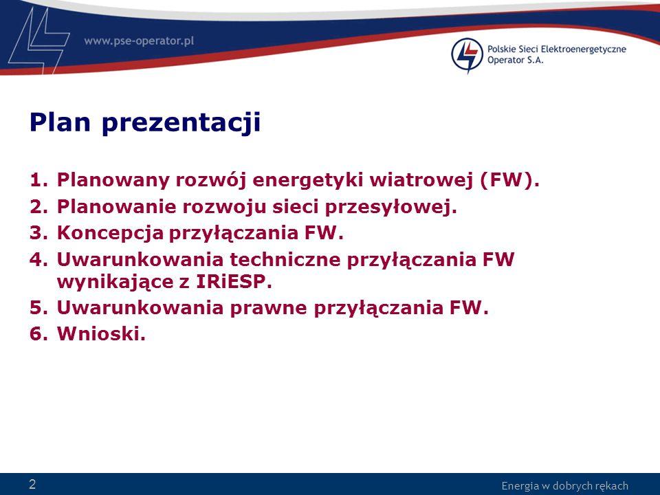 Plan prezentacji Planowany rozwój energetyki wiatrowej (FW).