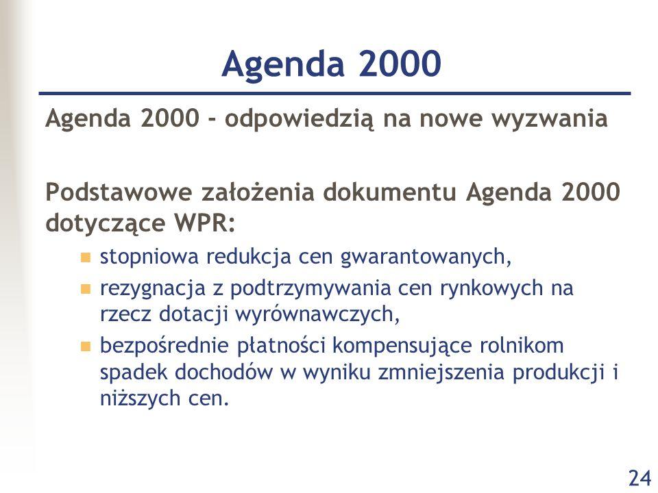 Agenda 2000 Agenda 2000 - odpowiedzią na nowe wyzwania