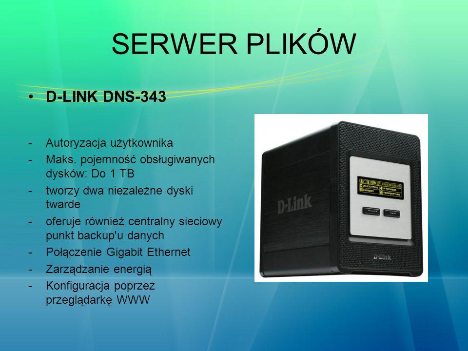 SERWER PLIKÓW D-LINK DNS-343 Autoryzacja użytkownika