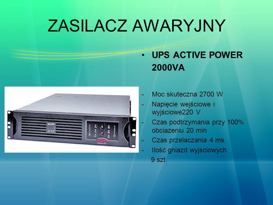 ZASILACZ AWARYJNY UPS ACTIVE POWER 2000VA Moc skuteczna 2700 W