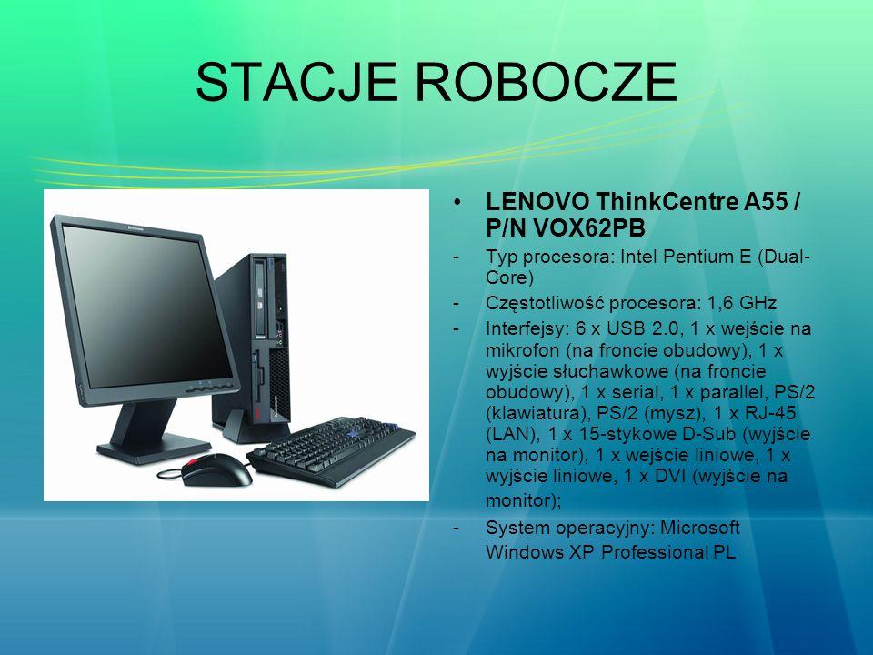 STACJE ROBOCZE LENOVO ThinkCentre A55 / P/N VOX62PB