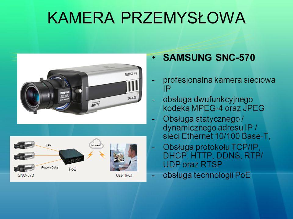 KAMERA PRZEMYSŁOWA SAMSUNG SNC-570 profesjonalna kamera sieciowa IP