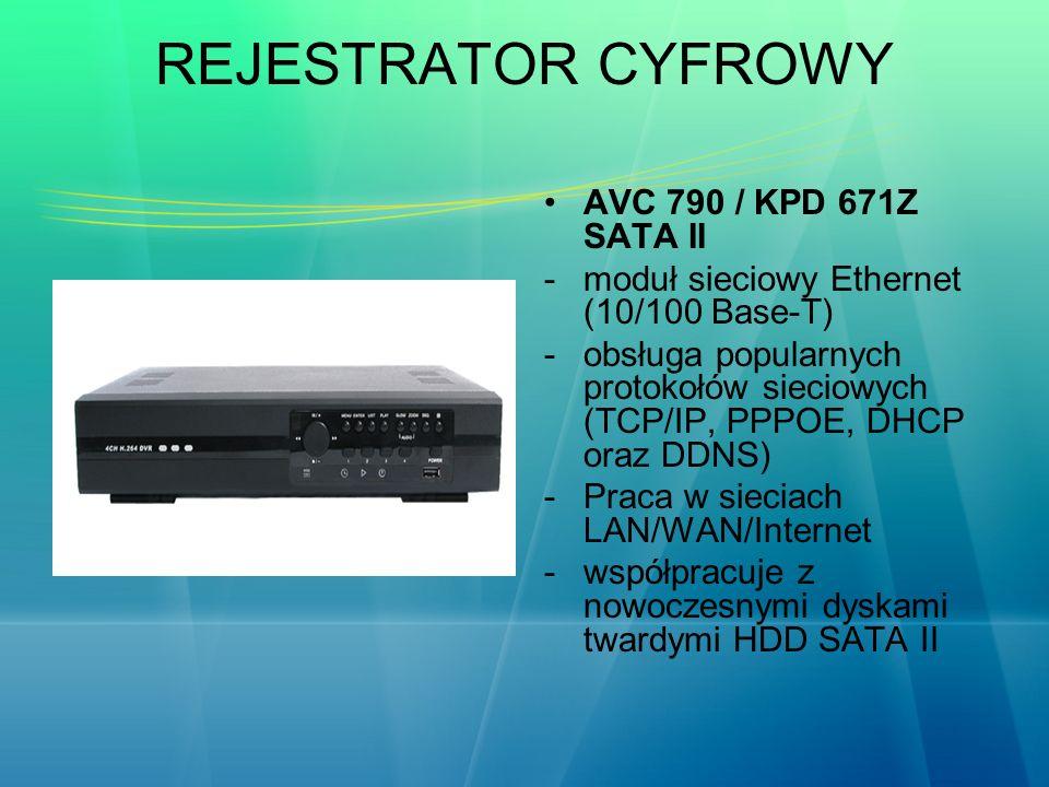 REJESTRATOR CYFROWY AVC 790 / KPD 671Z SATA II