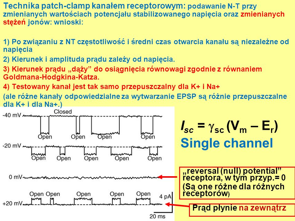 Isc = sc (Vm – Er) Single channel