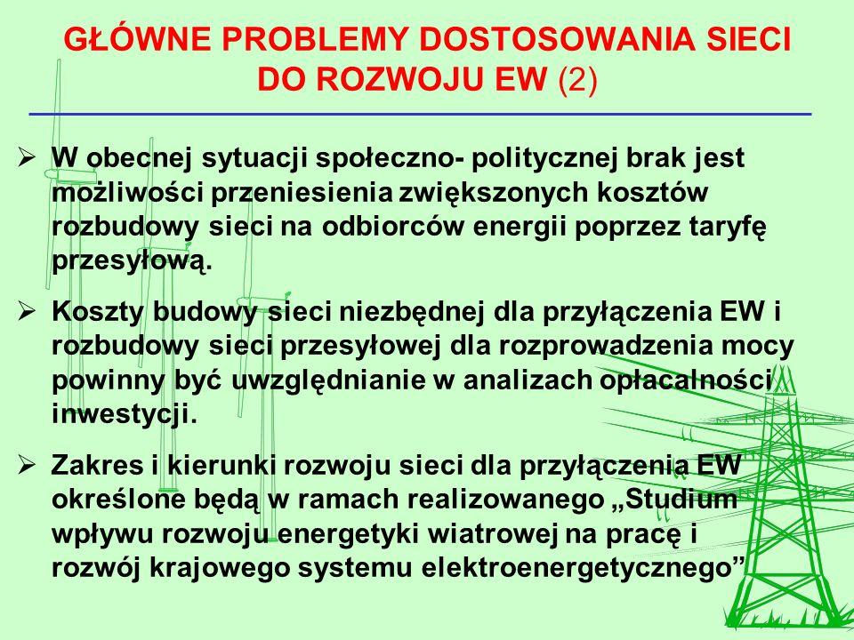 GŁÓWNE PROBLEMY DOSTOSOWANIA SIECI DO ROZWOJU EW (2)