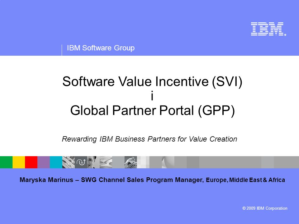 Software Value Incentive (SVI) i Global Partner Portal (GPP)