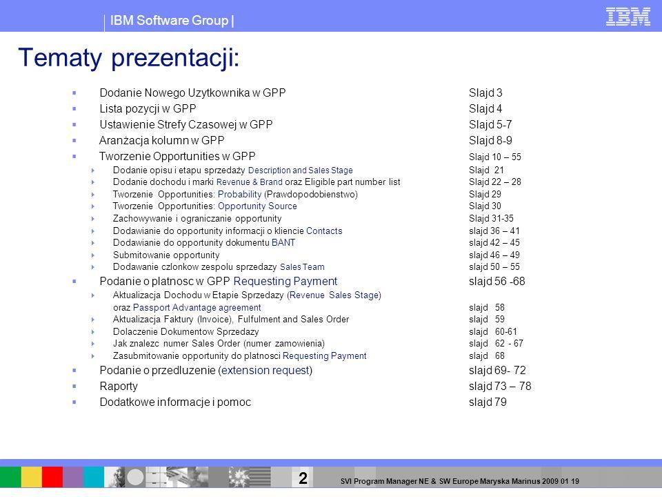 Tematy prezentacji: Dodanie Nowego Uzytkownika w GPP Slajd 3