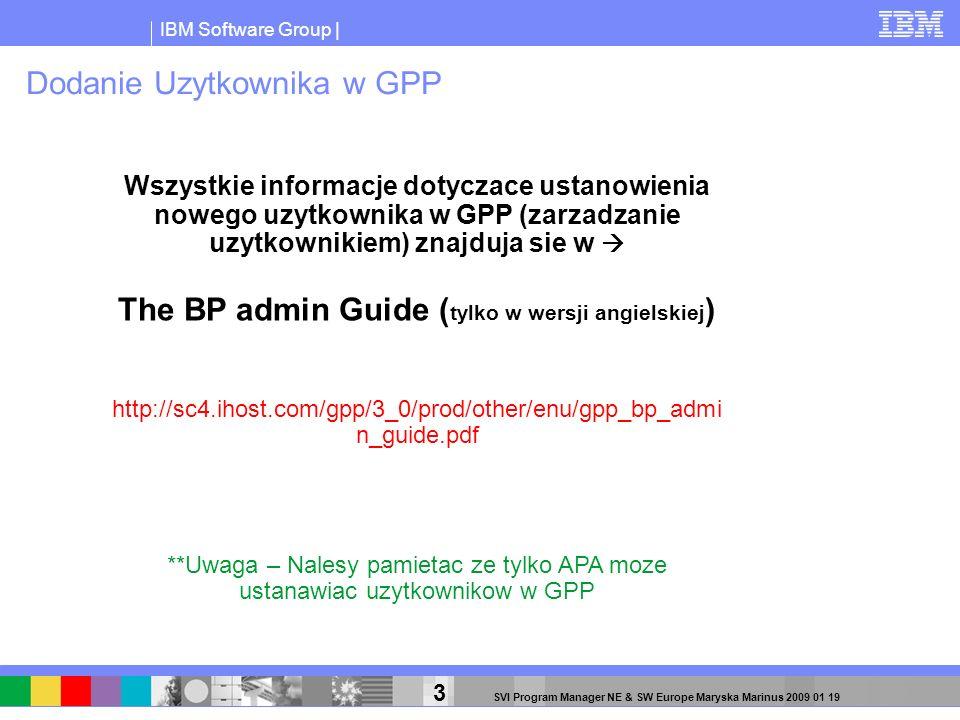 Dodanie Uzytkownika w GPP