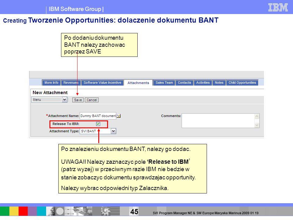 Creating Tworzenie Opportunities: dolaczenie dokumentu BANT