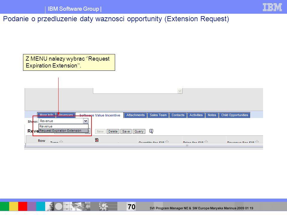 Podanie o przedluzenie daty waznosci opportunity (Extension Request)