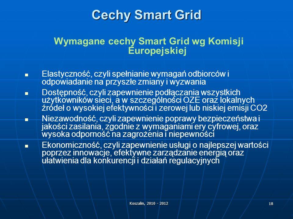 Wymagane cechy Smart Grid wg Komisji Europejskiej