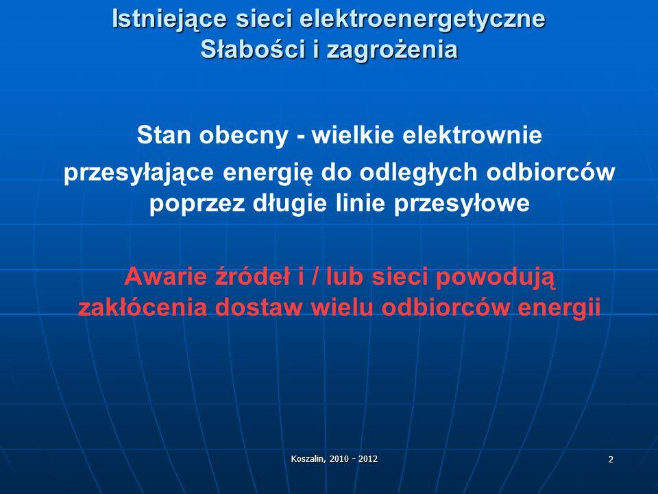 Istniejące sieci elektroenergetyczne Słabości i zagrożenia