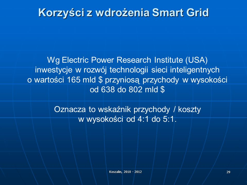 Korzyści z wdrożenia Smart Grid