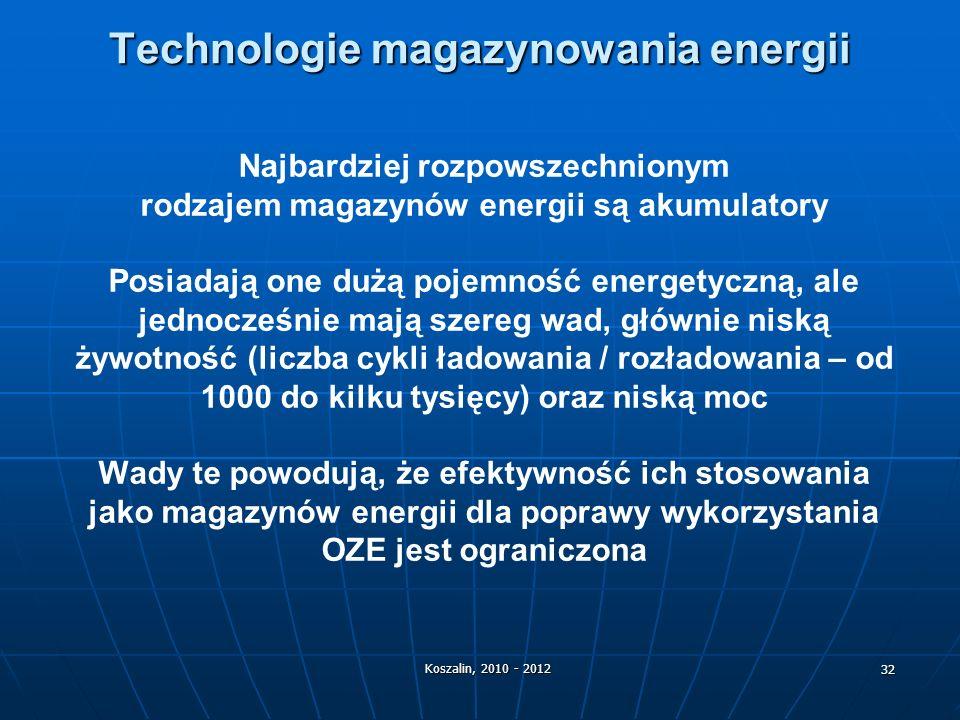 Technologie magazynowania energii