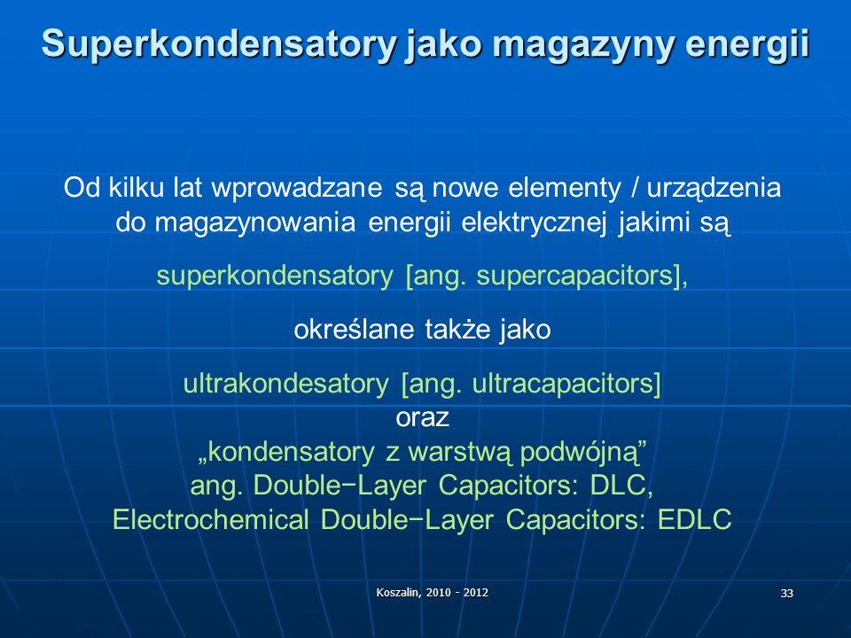 Superkondensatory jako magazyny energii
