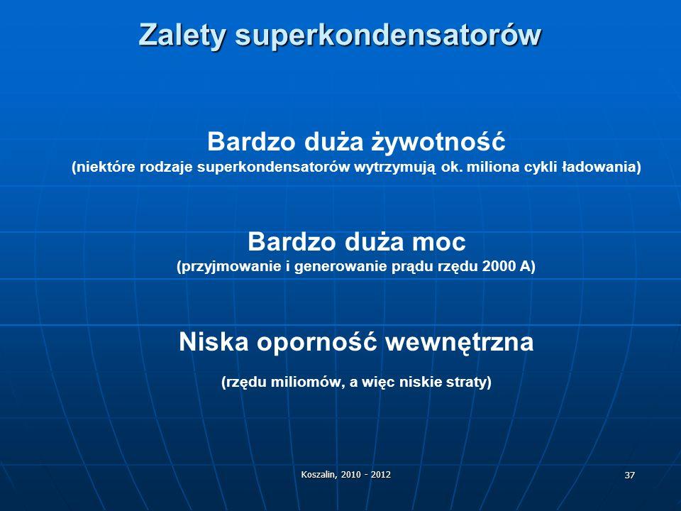 Zalety superkondensatorów