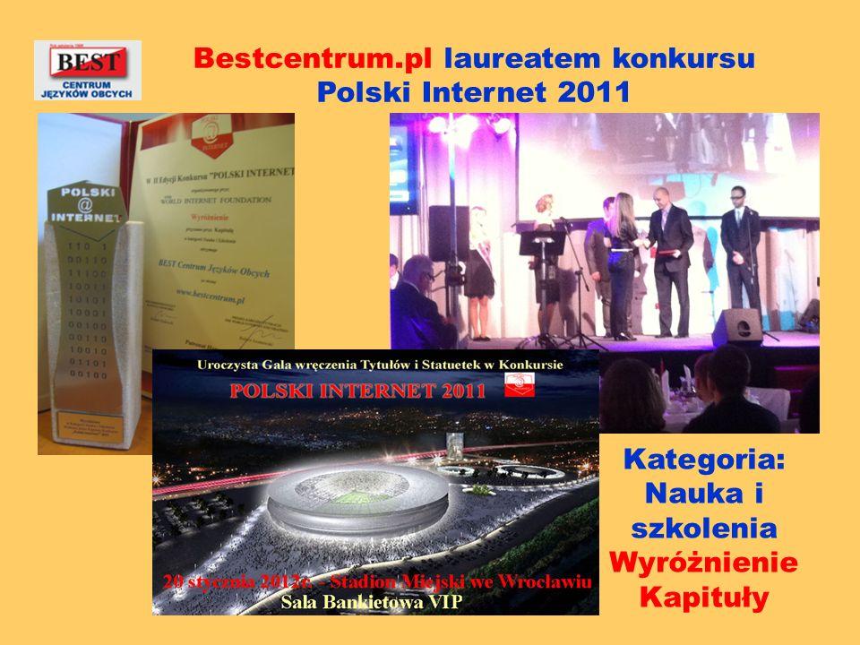 Bestcentrum.pl laureatem konkursu Polski Internet 2011