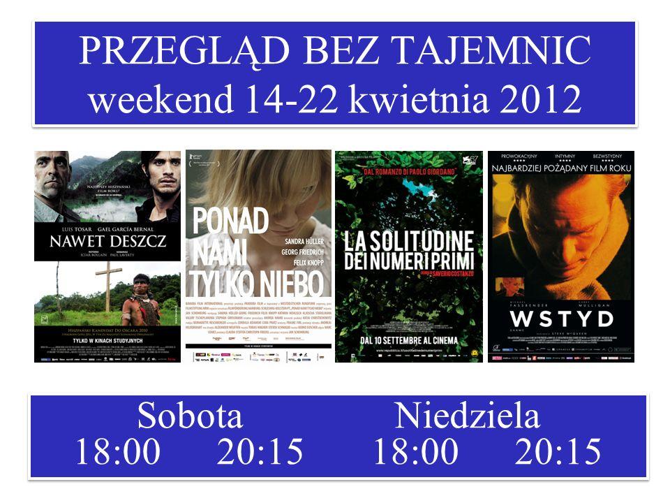 PRZEGLĄD BEZ TAJEMNIC weekend 14-22 kwietnia 2012
