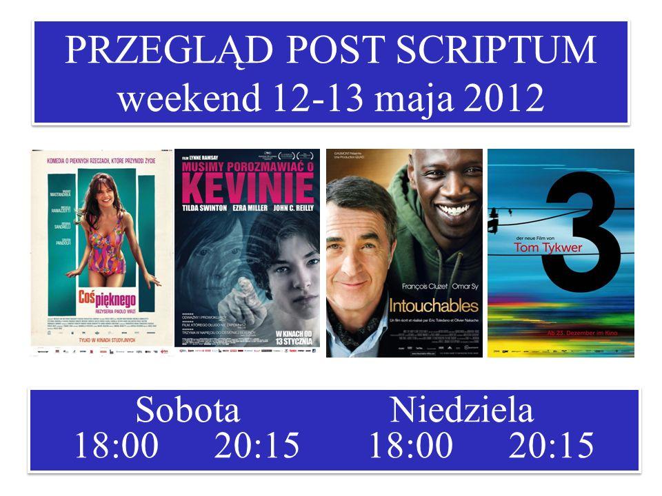 PRZEGLĄD POST SCRIPTUM weekend 12-13 maja 2012