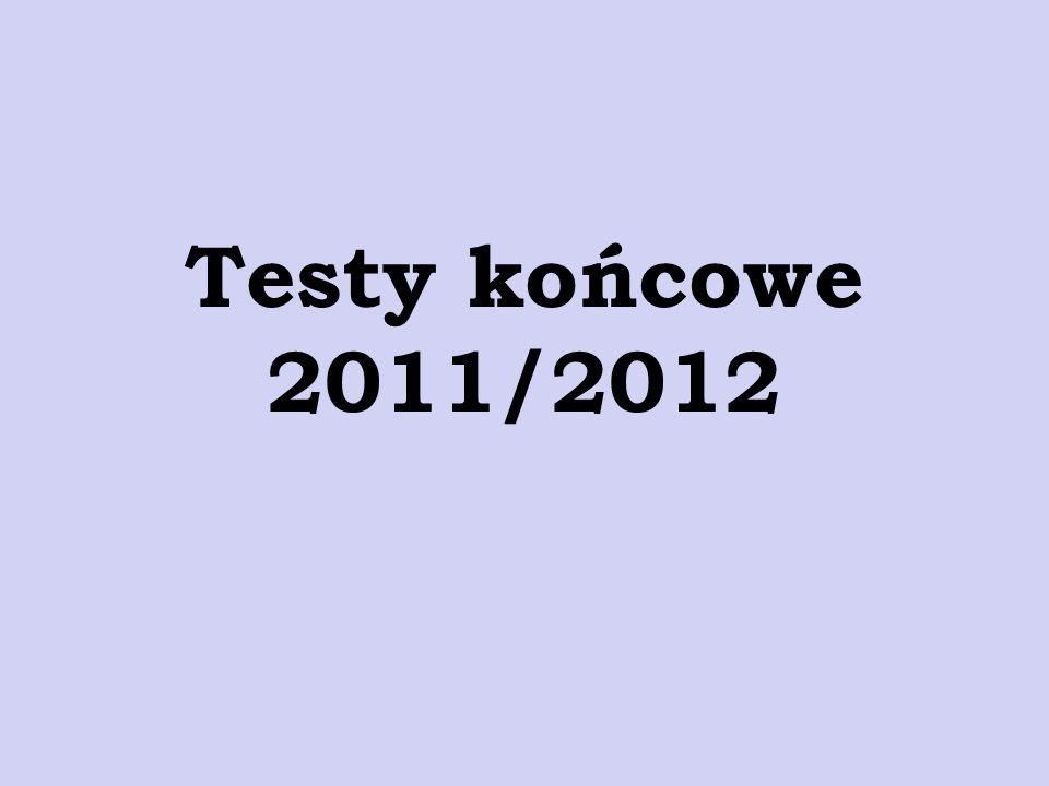 Testy końcowe 2011/2012
