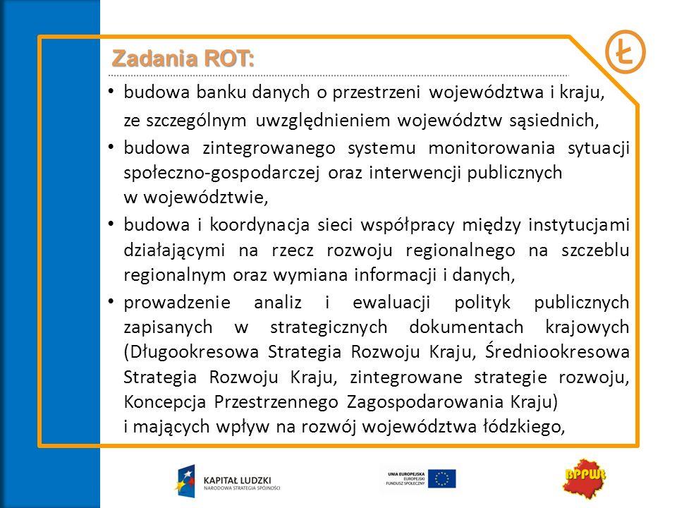 Zadania ROT: budowa banku danych o przestrzeni województwa i kraju,