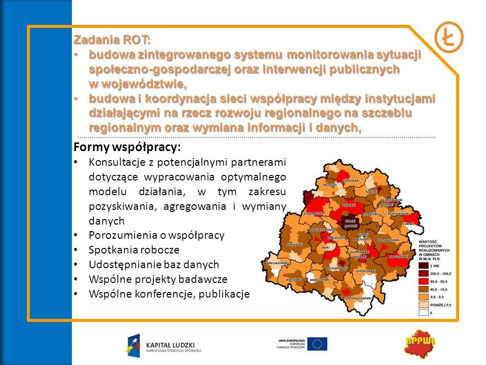 Formy współpracy: Zadania ROT: