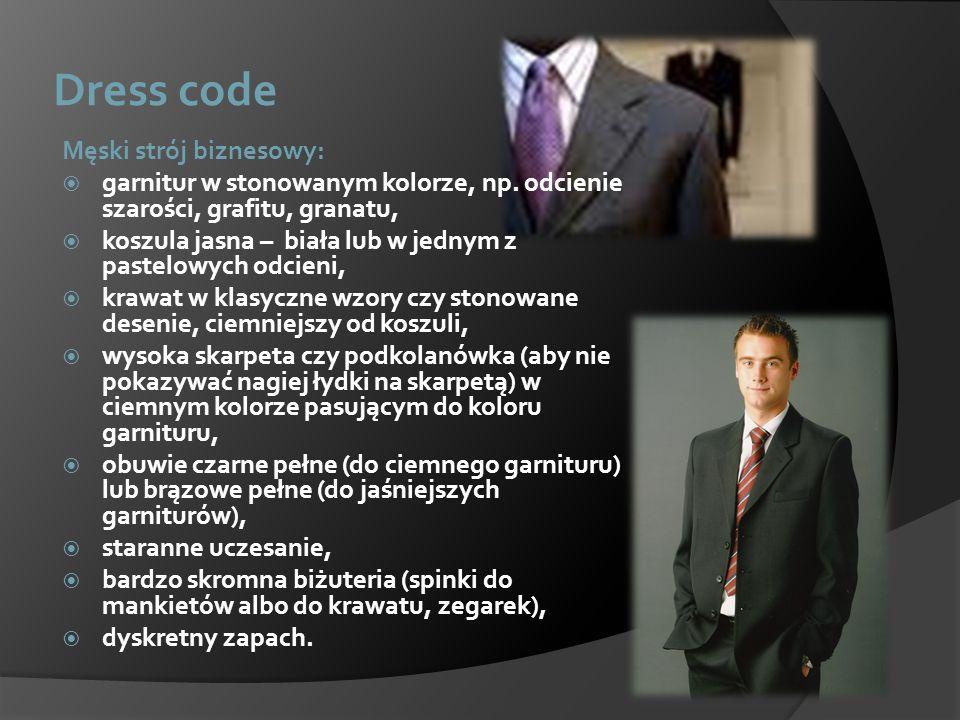 Dress code Męski strój biznesowy: