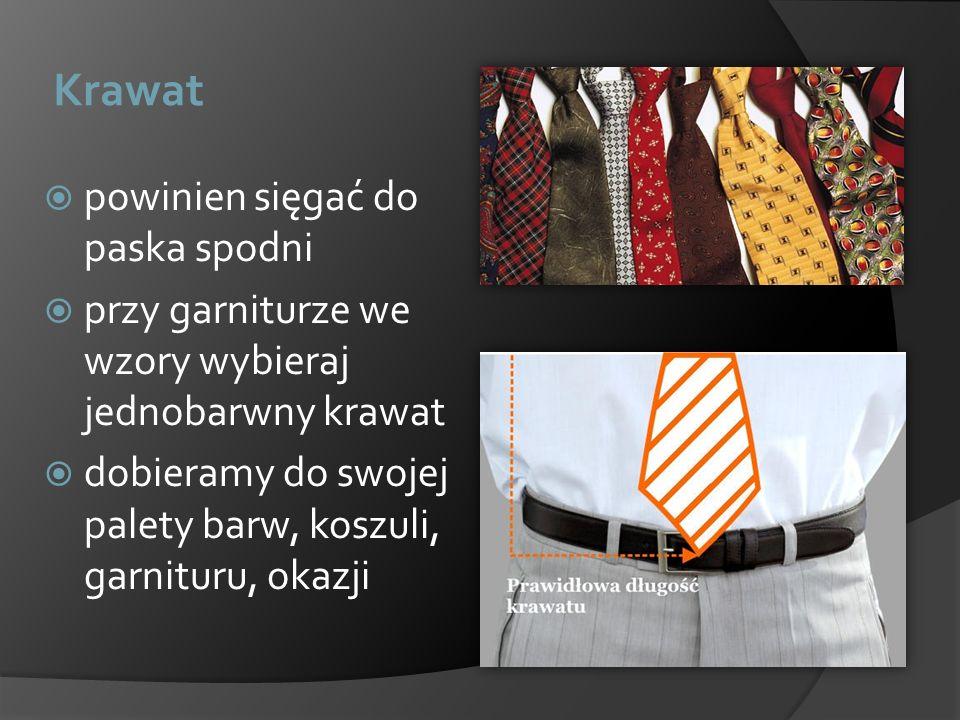 Krawat powinien sięgać do paska spodni