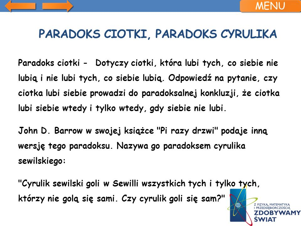 Paradoks ciotki, paradoks cyrulika