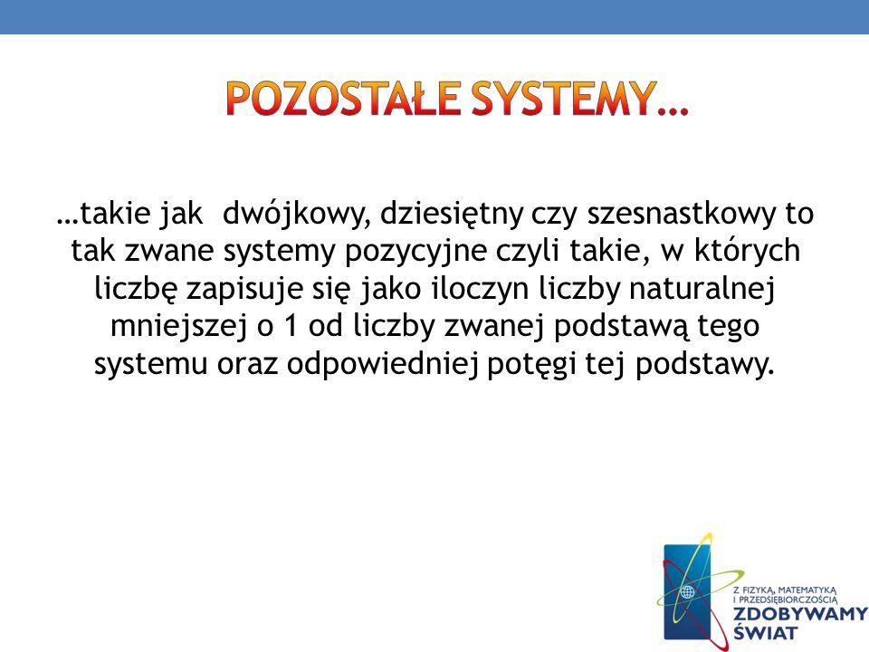 pozostałe systemy…