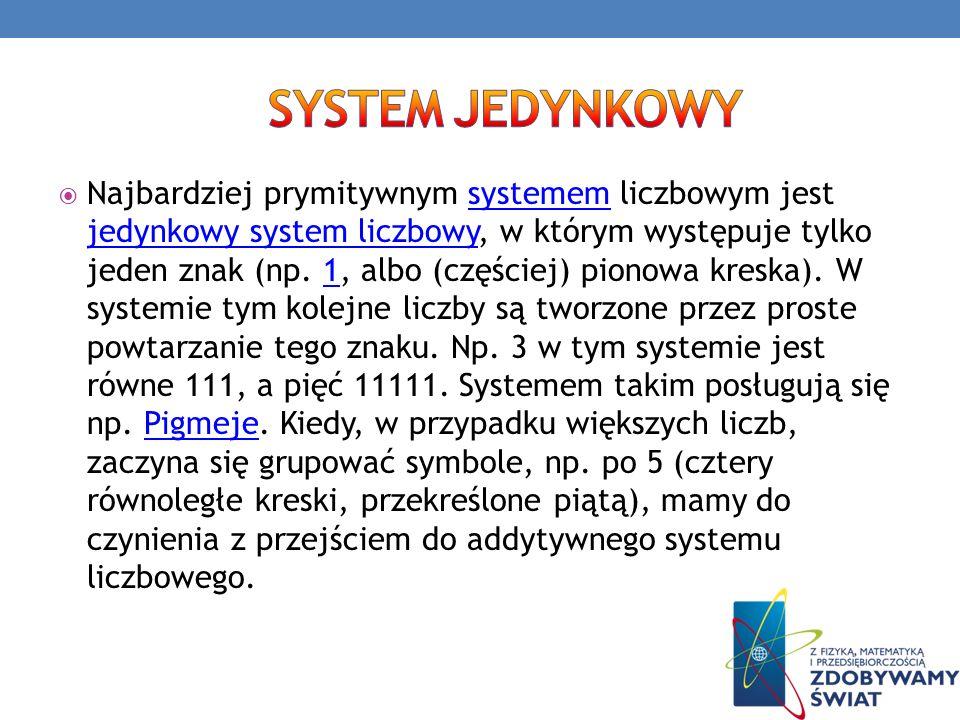 System jedynkowy