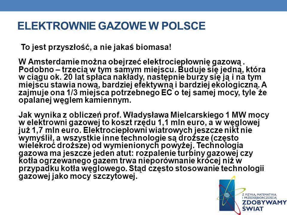 Elektrownie gazowe w Polsce
