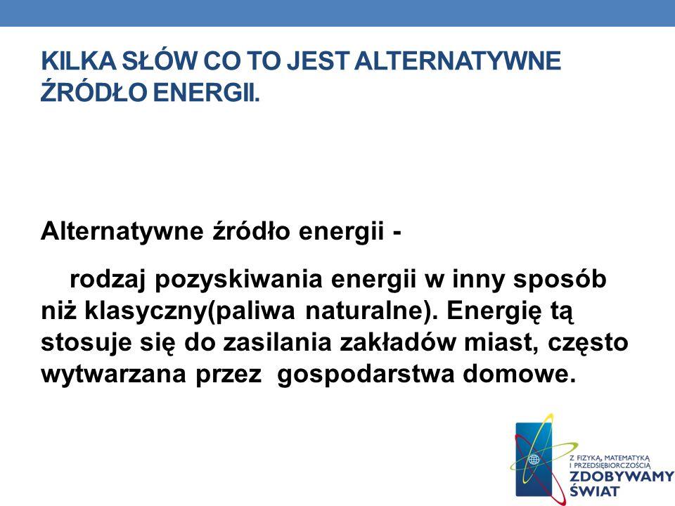 Kilka słów co to jest alternatywne źródło energii.