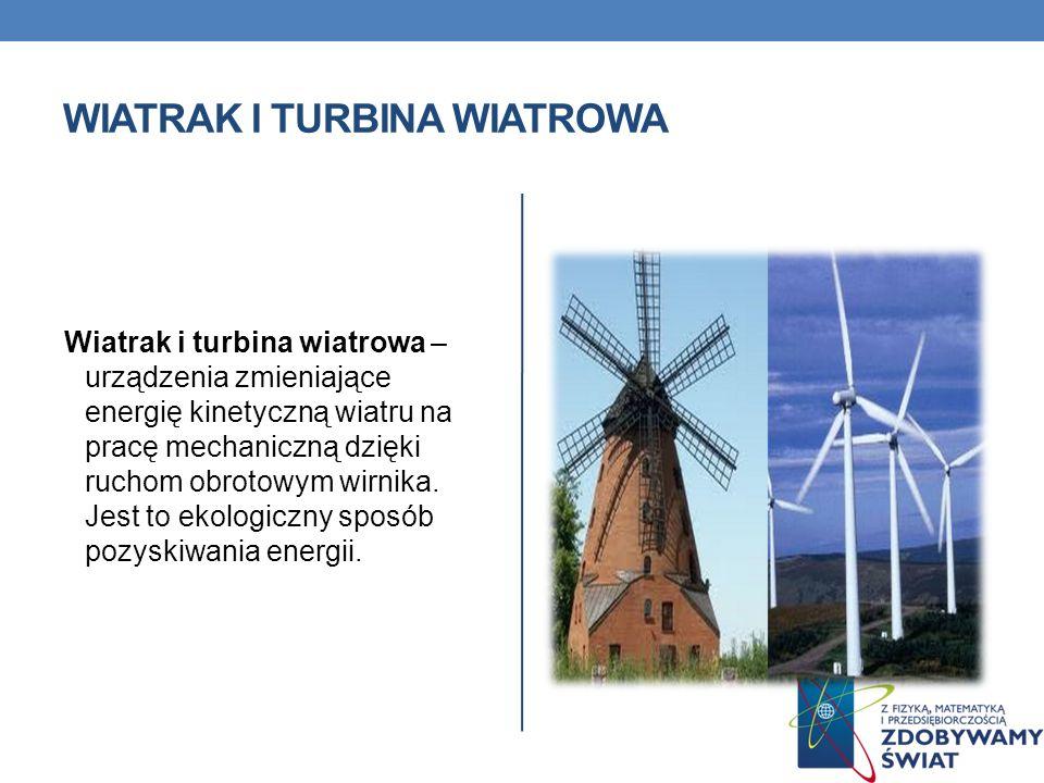 Wiatrak i turbina wiatrowa