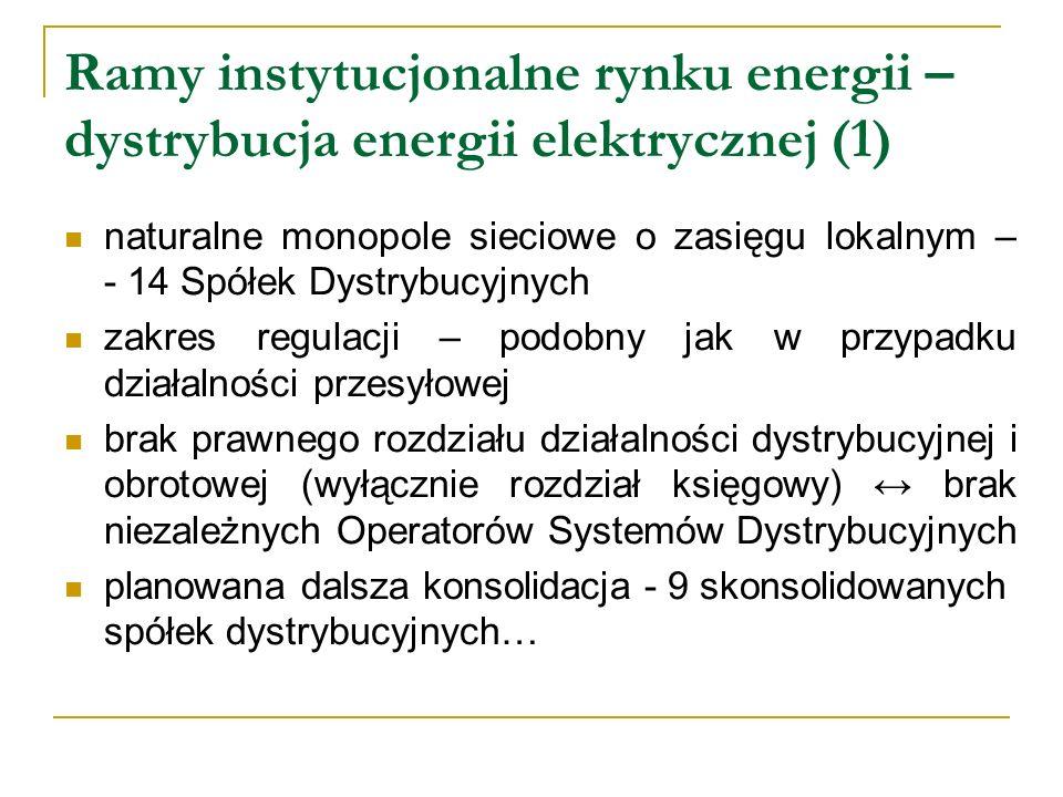Ramy instytucjonalne rynku energii – dystrybucja energii elektrycznej (1)