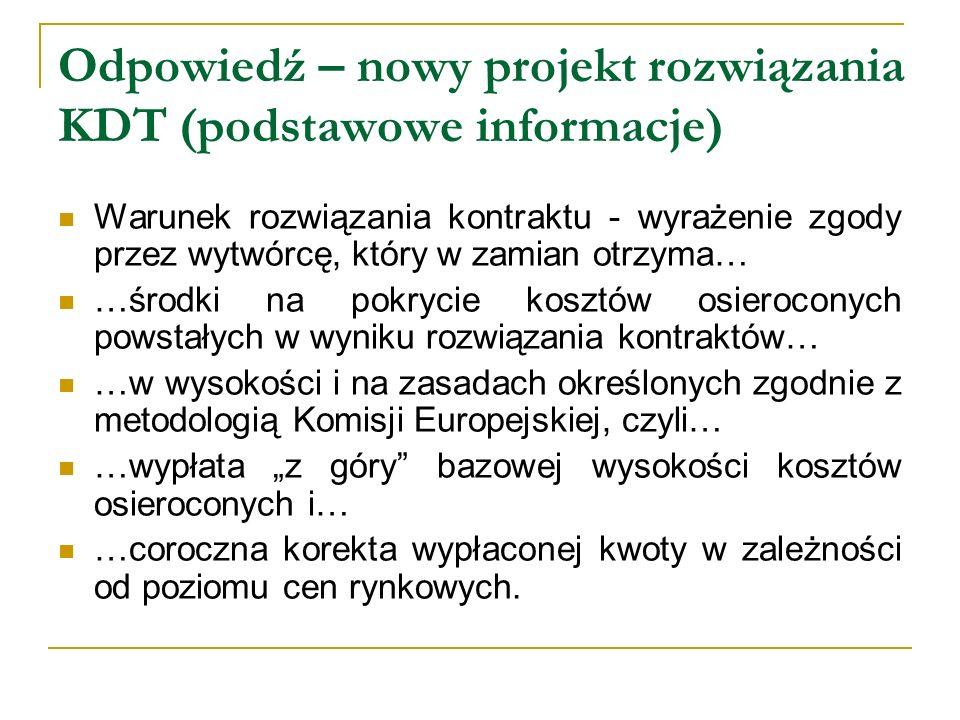 Odpowiedź – nowy projekt rozwiązania KDT (podstawowe informacje)