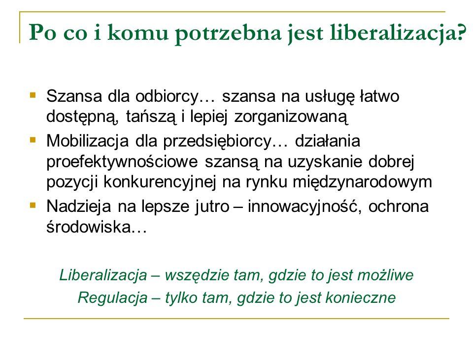 Po co i komu potrzebna jest liberalizacja