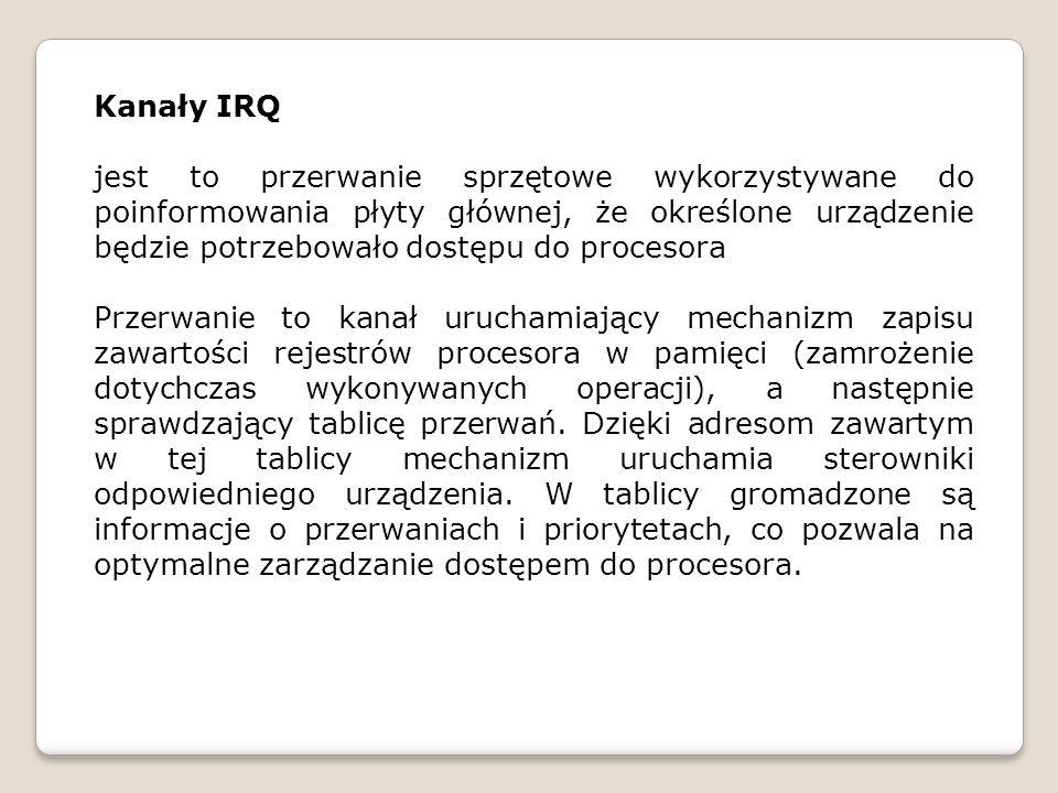 Kanały IRQ