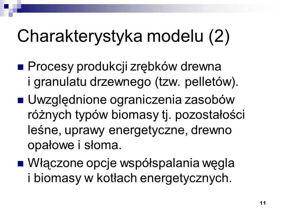 Charakterystyka modelu (2)