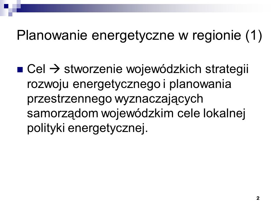Planowanie energetyczne w regionie (1)
