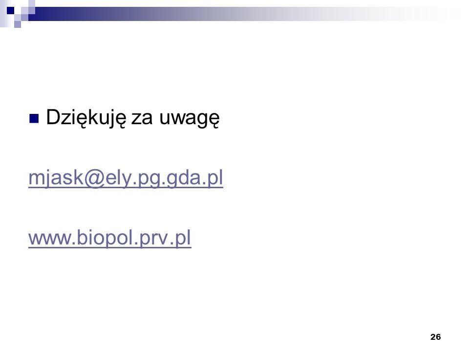 Dziękuję za uwagę mjask@ely.pg.gda.pl www.biopol.prv.pl