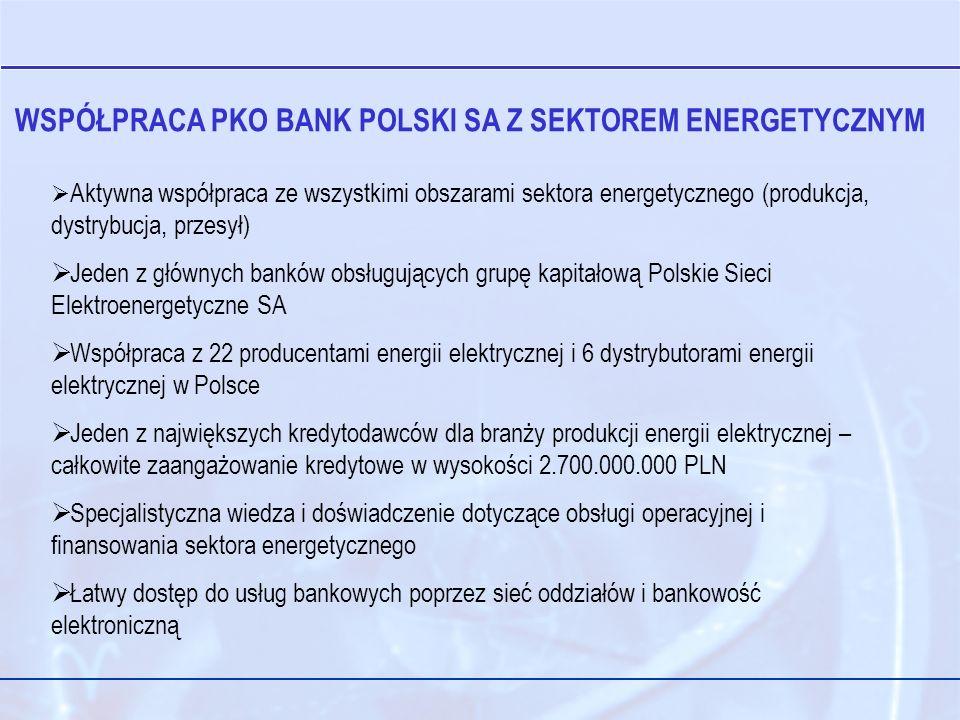 WSPÓŁPRACA PKO BANK POLSKI SA Z SEKTOREM ENERGETYCZNYM