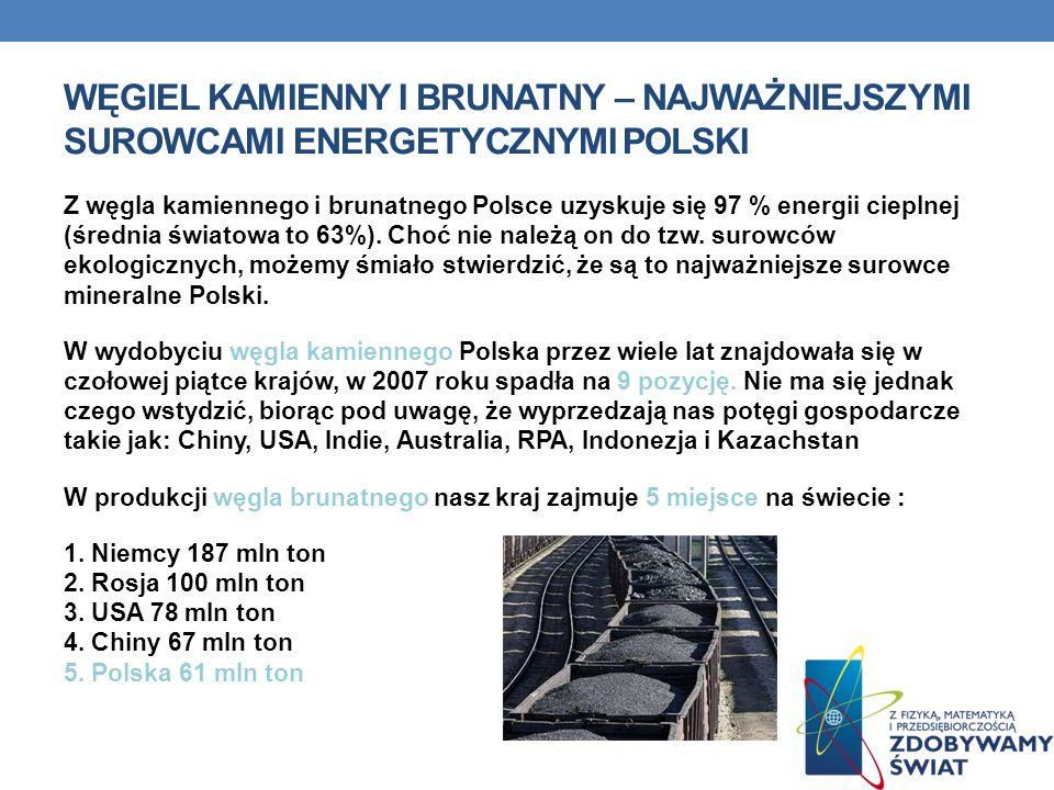 WĘGIEL KAMIENNY I BRUNATNY – NAJWAŻNIEJSZYMI SUROWCAMI ENERGETYCZNYMI POLSKI