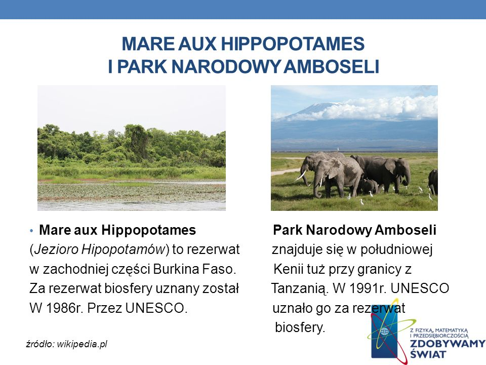 MARE AUX HIPPOPOTAMES I PARK NARODOWY AMBOSELI