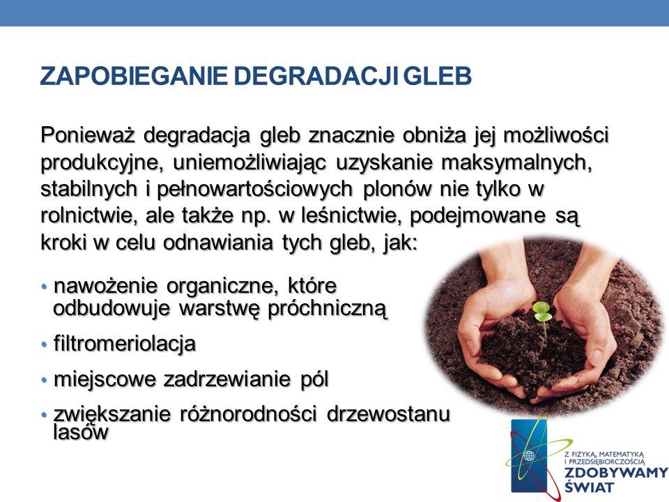 Zapobieganie degradacji gleb